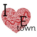 My I heart E-town tshirt design